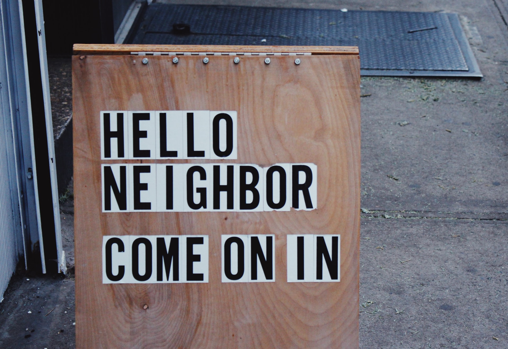 Hello Neighbor, come on in